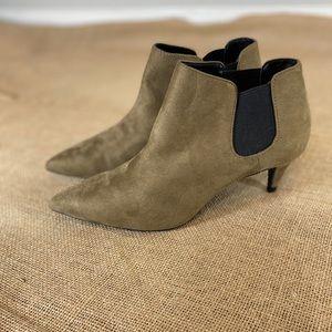 Zara Kitten Heel Suede Tan Boots